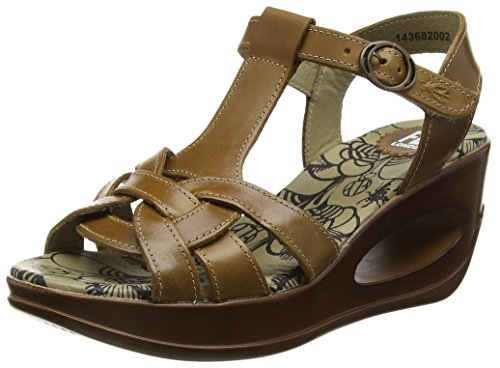 Sandalias Fly Mujer London 002 Marrón Camel HEWS682FLY AEE8OqwgF