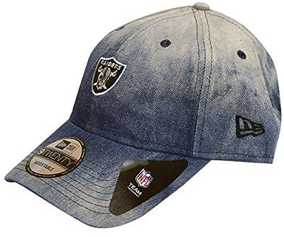 New Era Oakland Raiders Denim Wash Out Adjustable Strapback Hat from New Era