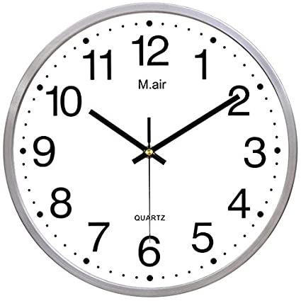 Amazon.com: Ysayc Metal Wall Clock Bedroom Living Room Simple Creative Quartz Clock, Large White: Home & Kitchen