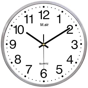 Ysayc Metal Wall Clock Bedroom Living Room Simple Creative Quartz Clock Simple