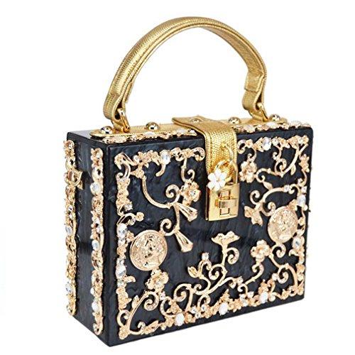 Shoulder Evening Prom amp;OS Bag bag evening Women Ladies black Bag Clutch Purse ZJ Party Handbag WtvS1qw00