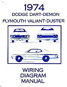 amazon com 1974 dodge dart duster valiant electrical wiring rh amazon com 1974 dodge dart wiring harness 1974 dodge dart engine wiring harness