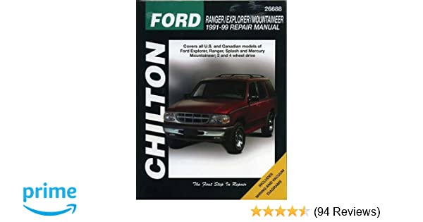 Ford ranger explorer and mountaineer 1991 99 chilton total car ford ranger explorer and mountaineer 1991 99 chilton total car care series manuals chilton 9780801991318 amazon books fandeluxe Choice Image