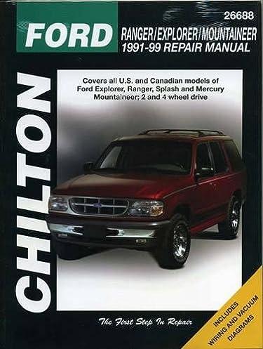 ford ranger explorer and mountaineer 1991 99 chilton total car rh amazon com 1999 ford ranger repair manual pdf Ford Ranger Repair Manual PDF