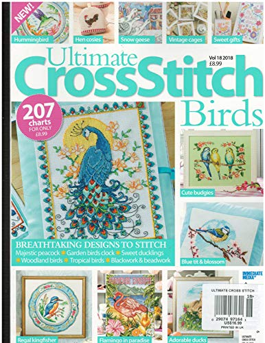 Ultimate CrossStitch Birds Magazine Volume 18 2018