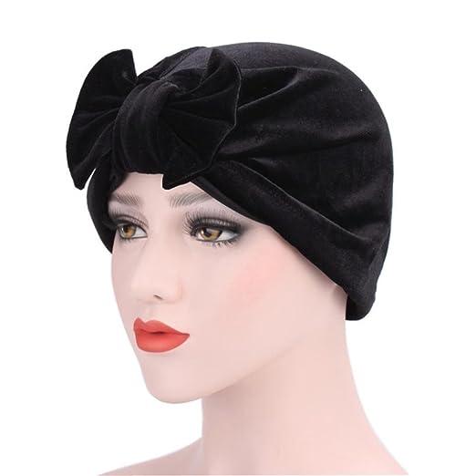 Fabal Women Big Bow Turban Women s Hats Headdress Luxury Stylish Chemo Cap  Women Bowknot Hat ( ea884e7861a