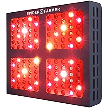 Spider Farmer Dimmable Series 600W Led Grow Light Full Spectrum Dual Growth and Bloom Dimmers for Hydroponic Indoor plants