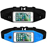 The KEKU Running Belt Waist Pack(5.5 inches) Suitable for 4-6 inch screen mobile phone,waterproof, stylish,Suitable for fittness,urban jogging, marathon, cycling, outdoor travel – Black/blue Review