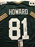 Autographed/Signed Desmond Howard Green Bay Packers Green Football Jersey JSA COA