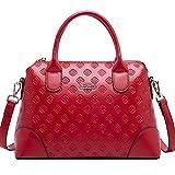 BOYATU Leather Handbag for Women Shoulder Bag Top Handle Ladies Satchel Bags