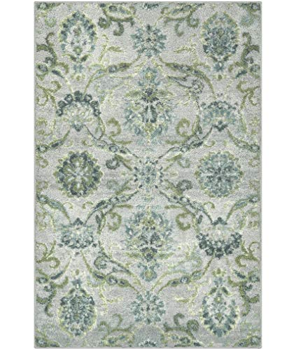 Better Homes & Gardens Distressed Scroll Area Rug or Runner, 2'6 x 3'10 Light Gray