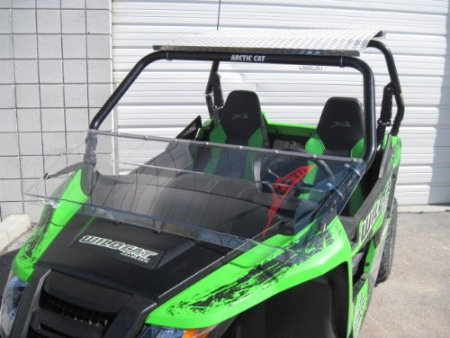 Arctic Cat Wildcat (Trail/Sport Only) 12'' Tall Half WindshieldTallest on the market (we make shorter upon request let us know at time of order). Made in America by UTV Windshields and Accessories (Image #4)