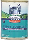 Natural Balance Original Ultra Whole Body Health Chicken Duck Brown Rice Canned Puppy Dog Food, 13 Oz, Pack Of 12 For Sale