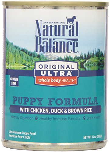 Natural Balance Original Ultra Whole Body Health Chicken Duck Brown Rice Canned Puppy Dog Food, 13 oz, Pack of 12