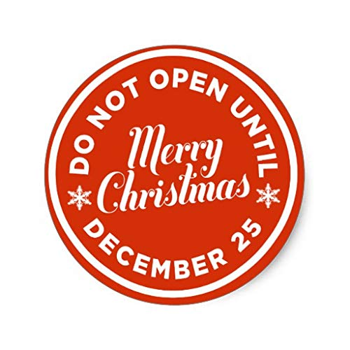 Do Not Open Until Christmas Gift Christmas Stickers Xmas Labels for Gift Envelope Bag Seals