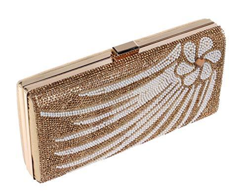 Dress Chain Womens Clutch Wedding Gold Evening Bags Handbag Crystal For Purse 6ZqpqT7