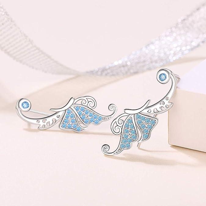 MIYUAN Pendientes de tuerca de plata de ley 925 hechos a mano de cuarzo ahumado para mujer joyer/ía retro