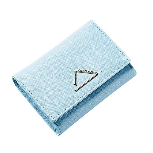Poche sucré Couleur Bleu Porte de crédit Zip Main Tisdaini Sac Monnaie Porte de Cartes tri Fold Porte à Monnaie Court Porte Bonbon Cartes de 4AwqIOE