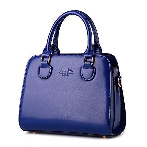 Wewod bolsa de mensajero hombro/bolsa de hombro moda/bandolera bolso mujeres grande/Carteras de mano con asa 28 x 22 x 12 cm (L*H*W) Azul marino