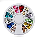 1 Pack Drop Water Gem Stones Glitter Nail Art Rhinestones In Wheel 3D Accessories Decoration DIY Manicure Nails Tools Tips Kits Stylish Popular Xmas Christmas Winter Snow Holidays Tool Kit