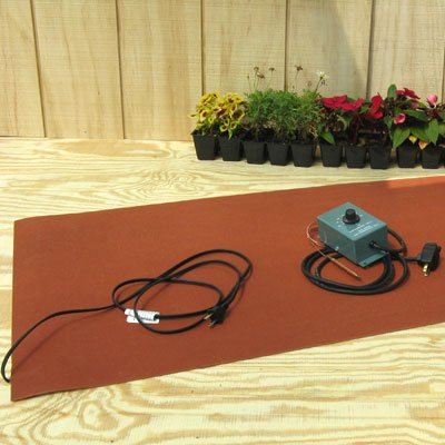 Pro Grow 22'' x 60'' Heat Mat and Thermostat Combo - Great For Seed Starting