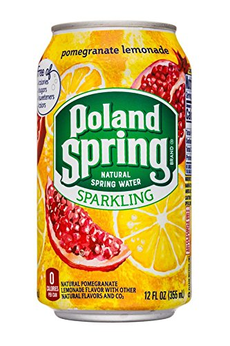 Poland Spring Sparkling Natural Spring Water Can, Pomegranate Lemonade, 12 Fluid Ounce (Pack of 24)