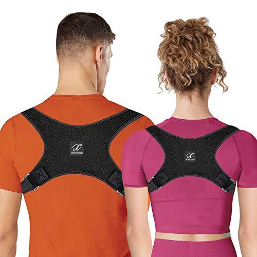 AAROND Posture Corrector for Women & Men Upper Back Brace for Shoulder and Clavicle Support Adjustable Back Straightener to Improve Bad Posture and Neck Pain Relief (L(39
