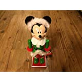 """Mickey Mouse Dressed As Santa 10""""h Wooden Nutcracker"""