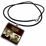 3dRose Sandy Mertens Writers World - Ron Paul Will Rogers and the Tea Party - Necklace With Rectangle Pendant (ncl_26361_1)