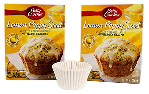 Bundle: Betty Crocker Muffin and Bread Mix with FREE Muffin Cups (Lemon Poppy Seed) (Muffins Poppy Seed Lemon)