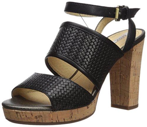 Mauvelle Geox Sandali con Nero Donna A Black Cinturino Caviglia alla D Anrx5