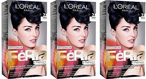 LOreal PARIS 2.1 - Tinte permanente para el pelo, 3 tintes ...
