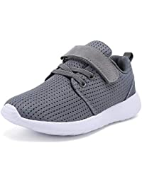 Boys Girls Sneakers Kids Lightweight Breathable Strap Athletic Running Shoes for Little Kids/Toddler