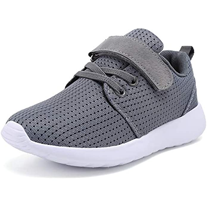 TOEDNNQI Boys Girls Sneakers Kids Lightweight Breathable Strap Athletic Running Shoes for Little Kids/Toddler