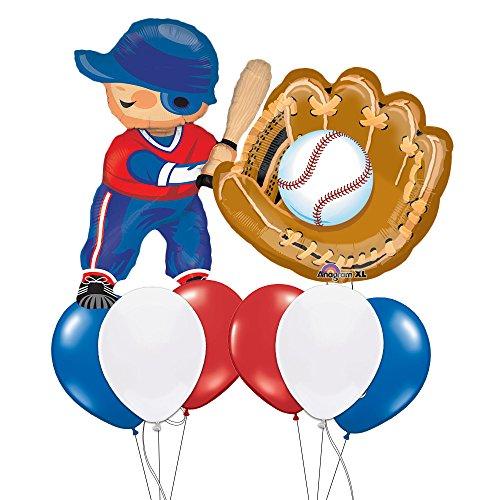 Baseball Player & Glove Balloon Bouquet