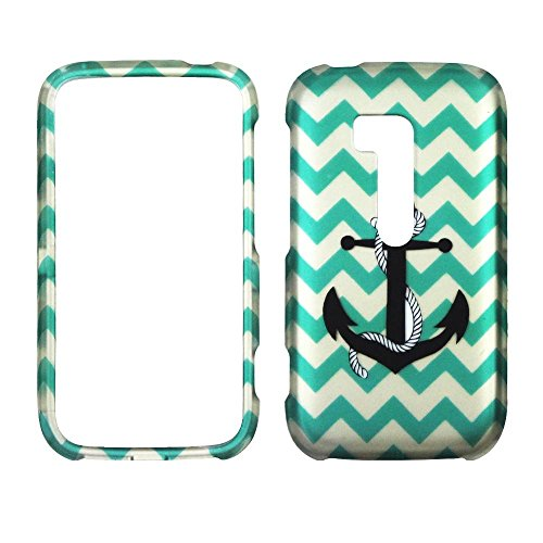 Nokia Cell Phone Faceplates (2D Blue Chevron Anchor Nokia Lumia 822 Verizon Case Cover Hard Phone Case Snap-on Cover Rubberized Touch Faceplates)