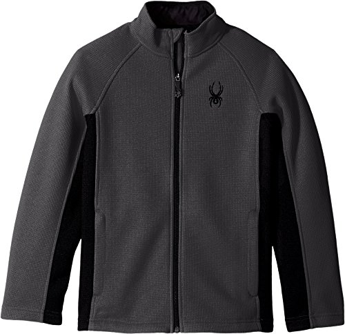 Spyder Boy's Constant Full Zip Stryke Jacket, Polar/Black, Small Spyder Boys Jacket