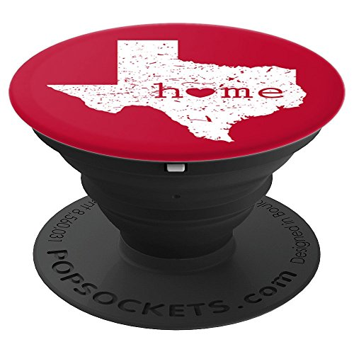 Texas Home Heart White Distressed TX Map Red Tech Student - PopSockets Grip and Stand for Phones and - Texas Stand Tech