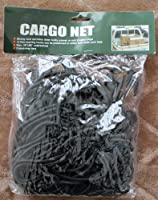 HEAVY DUTY 30 INCHES BY 50 INCHES UNSTRETCHED CARGO NET WITH 12 NONMARRING HOOKS IN BLACKGOLD OR BLUE