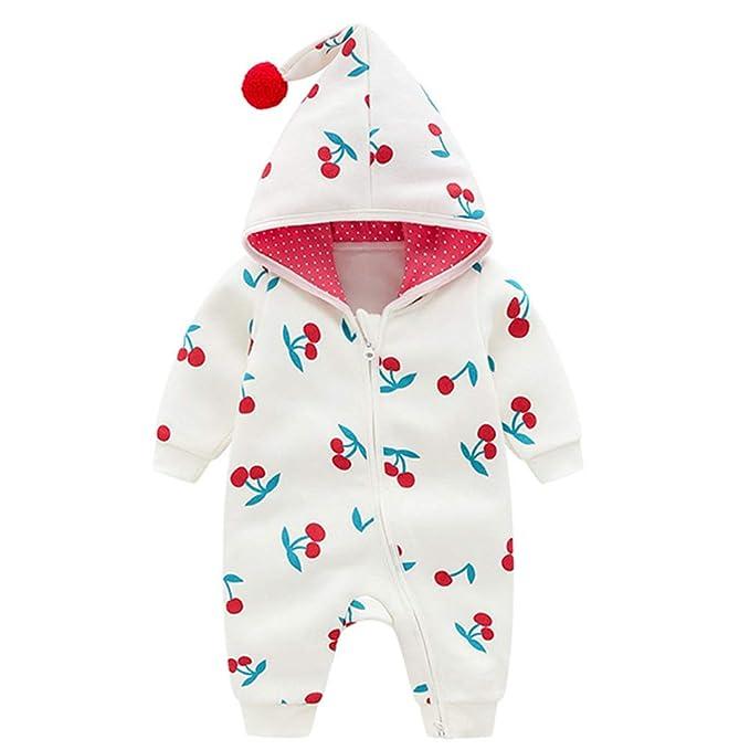 LPATTERN Mono de Nieve Invierno para Bebé Peleles Mameluco con Capucha Cálido para Niños Niñas: Amazon.es: Ropa y accesorios