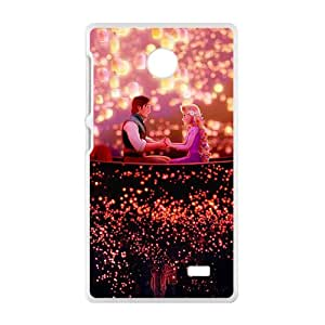 Frozen shiny scenery romantic couple Cell Phone Case for Nokia Lumia X