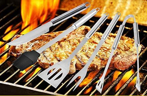 HJ Lot de 5 petites poignées pour barbecue en aluminium