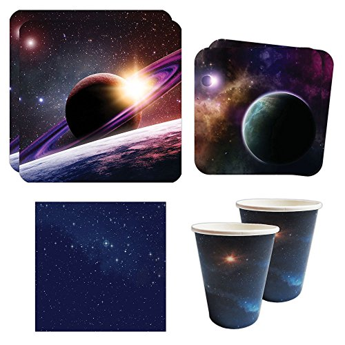 Space Party Standard Party Packs (65+ Pieces for 16 Guests!), Space Birthdays, Space Decorations, Science (Paper Wristbands Party City)