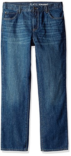 The Children's Place Big Boys' Straight Leg Jeans, Dark Jupiter, 14H (Husky Boys Clothes)