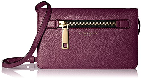 Marc Jacobs Gotham Crossbody Leather Strap Wallet, Iris, One Size by Marc Jacobs