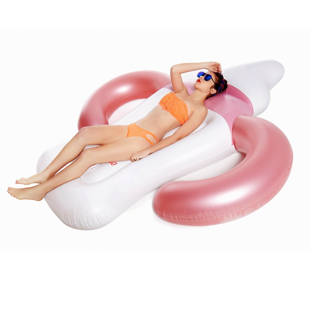 Flotador de Piscina Gigante, Nagorno Inflable Botella de bebé Divertido Verano Piscina balsa Fiesta Vacaciones Juguetes de Playa para Adultos niños, ...