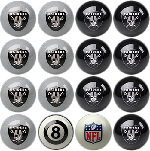 (Imperial Officially Licensed NFL Home vs. Away Team Billiard/Pool Balls, Complete 16 Ball Set, Oakland Raiders)