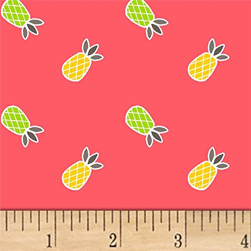 1/2 Yard - Mojito Guava Pineapple Cotton Fabric (Great for Quilting, Sewing, Craft Projects, & More) 1/2 Yard X -