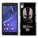 A-type Colorful Printed Hard Protective Back Case Cover Shell Skin for SONY Xperia Z2 / D6502 / L50W ( Funny Breaking Bad & Bat HEISENBERG )