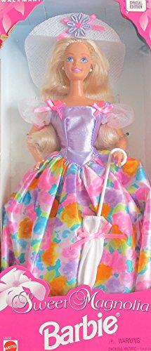 Barbie Bratz Doll (SWEET MAGNOLIA BARBIE DOLL w Sun HAT & UMBRELLA Wal*Mart SPECIAL EDITION (1996))